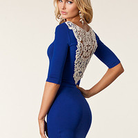 Crochet Back Jersey Dress, Rare London