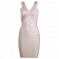 Bqueen V-Neck Bandage Dress H208B1