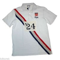 NWT Ralph Lauren Polo Men Chest Stripe Rugby Player Shirt L