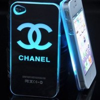 Smiling Deals Flash Light Case Cover for Apple iPhone 5 LED LCD Color Change - Black - Chanel + a Screen Protector and a Stylus As Gifts: Cell Phones &amp; Accessories