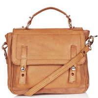 Suede And Leather Satchel - Bags &amp; Purses  - Bags &amp; Accessories