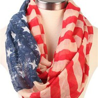 american flag infinity scarf - 1000048549 - debshops.com