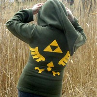 LINK Hoodie Cosplay the Legend of Zelda Deluxe w Hyrule LOGO w Zipper