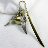 Salegolden snitch Bookmark Enchanted Steampunk by qizhouhuang