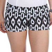 tribal black and white hot short - 1000047575 - debshops.com