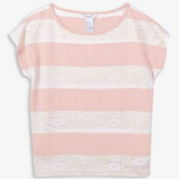 Lace Stripe Top