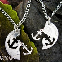 Anchor Interlocking Relationship Halves Quarter by NameCoins