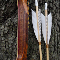 Canarywood Purpleheart and Bamboo bow with by WarpathArchery