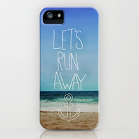 Let's Run Away: Sandy Beach, Hawaii II iPhone Case by Leah Flores Designs | Society6