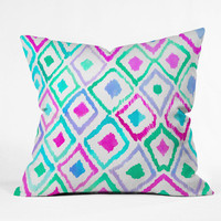 DENY Designs Home Accessories | Amy Sia Watercolor Ikat 2 Throw Pillow