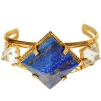 Unearthen Gold Lapis Cuff
