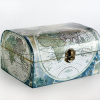 Wooden Treasure Vintage Decoupage Box Ready to by MyHouseOfDreams