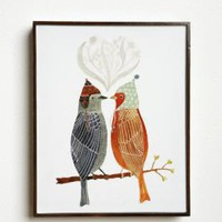 Love Birds Wall Art by Geninne Zlatkis 8.25x10.5