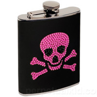 PRETTY IN POISON SKULL FLASK