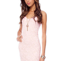 Azalea Lace Dress in Rose :: tobi