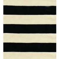 The American Home Rug Company Beach Collection Boardwalk Stripes Black Rug | Contemporary Rugs