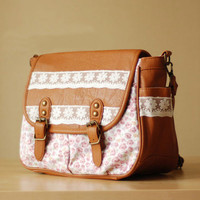 Small and pure and fresh cotton flower bud silk single shoulder bag from flowerbird