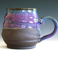 Purple Coffee Mug handmade ceramic cup ceramic by ocpottery