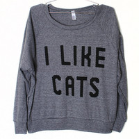 I Like Cats Raglan (Select Size)