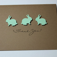 Thank You Cards Baby Shower Bunnies Set of 10 by RoyalRegards