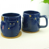 Creative Jean-like Colored Glaze Mug