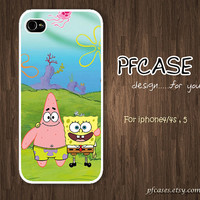 Spongebob and Patrick star &quot;Friend Forever&quot;  : Handmade Case for Iphone 4/4s , Iphone 5 Case Iphone