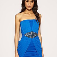 Embellished Waist Bandeau Dress at ASOS