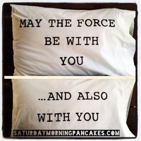 May the Force be with you pillow case set by SatMorningPancakes