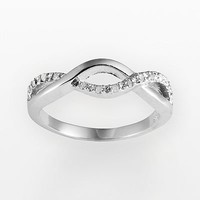 Sterling Silver 1/10-ct. T.W. Diamond Infinity Promise Ring