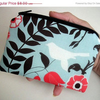 MOVING SALE Zipper pouch ECOFriendly Bird by JPATPURSES on Etsy