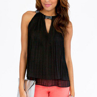 Nymph Pleated Tunic Top $40