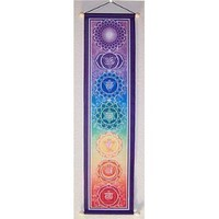 """6"""" X 24"""" Small Chakra Banner, By Bryon Allen"""