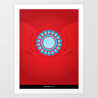 IRON MAN Art Print by aeledege