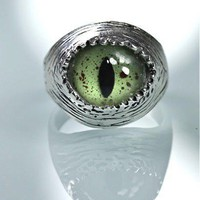 Snake Eye Ring sizes 4 to 11 self adjustable by billyblue22