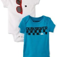 Quiksilver Baby-Boys Newborn Echo Beach, Blue/White, 3-6 Months: Clothing