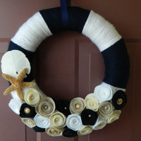 Summer Nautical Wreath  Beach Wreath  14 Inch by WreathinkGifting