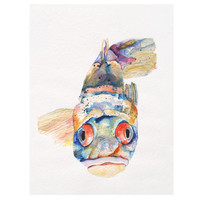 Blue Fish Canvas Art