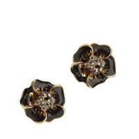 UrbanOutfitters.com > Enamel Flower With Pave Center Post Earrings