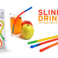 Slinky Drinks - Gummy Worm Straws