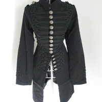 Vintage 1980s Gothic Military Napoleon jacket by shmooozin on Etsy