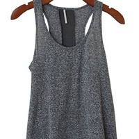 Contour Burnout Racer Tank, Stone Gray