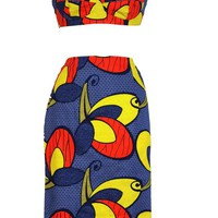 Tribal Print Bralet and Pencil Skirt Set  | Style Icon`s Closet