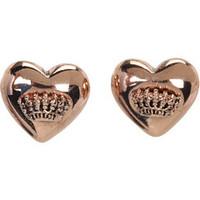 Juicy Couture Puffed Heart Stud Earrings