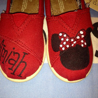 Minnie Mouse Inspired Disney Tiny Custom TOMS