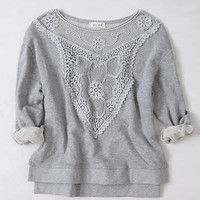 Anthropologie - Lattice Bib Sweatshirt