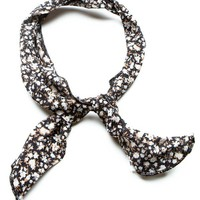 Brandy ♥ Melville |  Dark Brown Floral Headband - Accessories