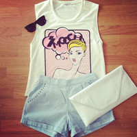 Smooch Pop Art Tank - Furor Moda - Tops - Dresses - Jackets - Vintage