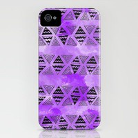 Purple Triangles iPhone Case by Kayla Gordon | Society6