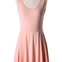 Peachy Pink Tank Dress
