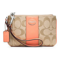 COACH SIGNATURE SMALL WRISTLET - COACH - Handbags &amp; Accessories - Macy&#x27;s